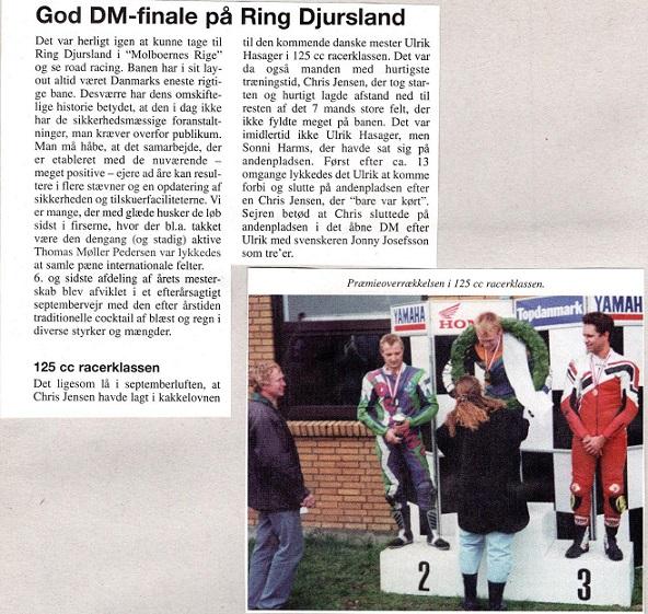 Omtale fra DM-finalen med bilede af årets 3 første. Danmarksmester Ulrik Hasager, Chris 2 og svenskeren Josefson 3.