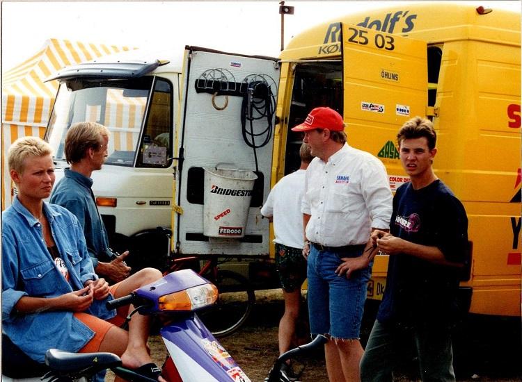 EM-løbet i Brno. Fra venstre Anne Mette, Tipper, Henrik Jørgensen og Sonni Harms