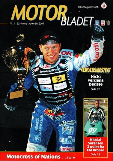 MB nov. 2003 med Nicolai Sørensen på forsiden.