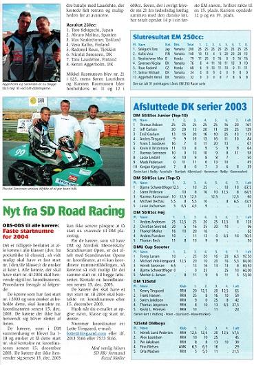 Inde i bladet omtale af Nicolais fornemme 4. plads i EM og resultatlisten med teamets øvrige flotte placeringer. Img2