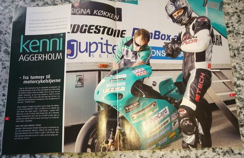 Bladet Monarch, der ligger på motorvejstankstationerne havde et par sider med om DRRT og Kenni Aggerholm i 2006. Img1
