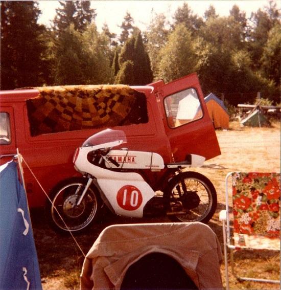 Anderstorp juli 80. Sådan så Finns første cykel ud.