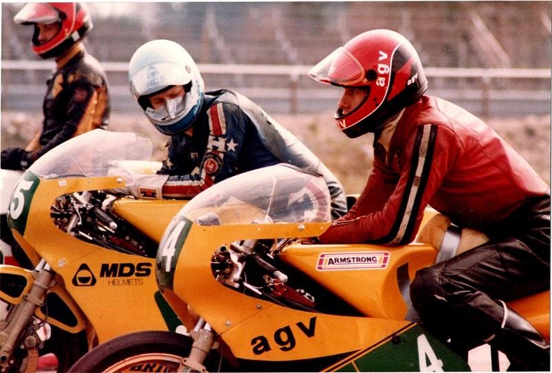 Sæson 82-83. Finn til start på en svensk bane sammen med en Armstrong kollega.