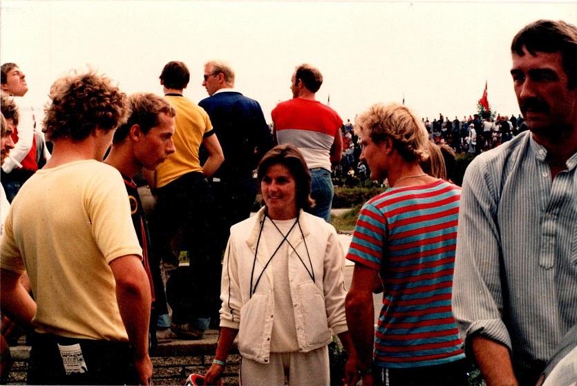 1985-08-18 RD int. Finn, Karen Sørensen og Chris Jensen.