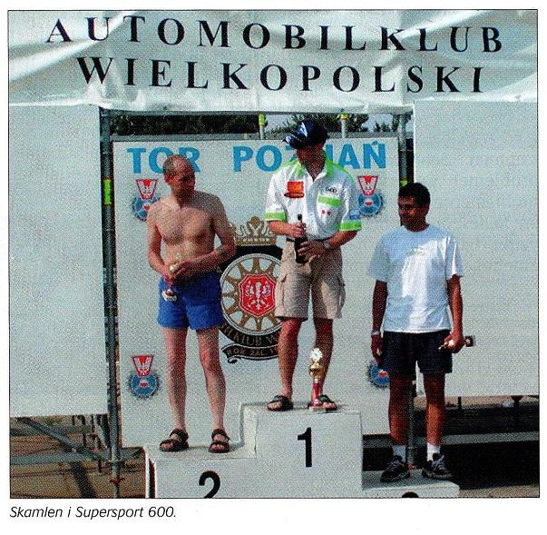 2002-08 MB DM afd. i Poznan. Motorbladet bragte dette billede af sejrsskamlen med Nicolai, Finn og en polsk kører.