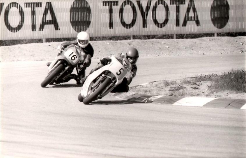 1986-05 JR NM. Motorbladet bragte dette billede af Finn med nr. 5. 16 er finnen Ari Rämø.