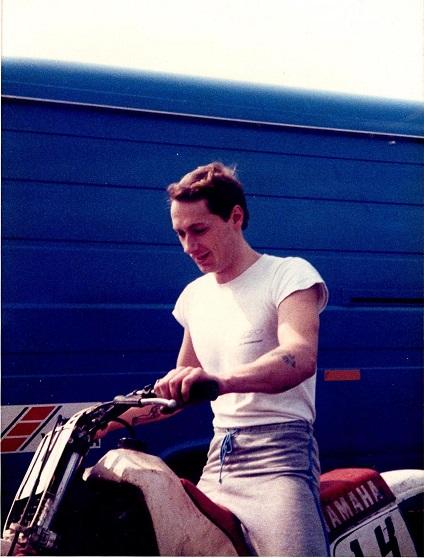 Finn som crosskører omkring 1985.