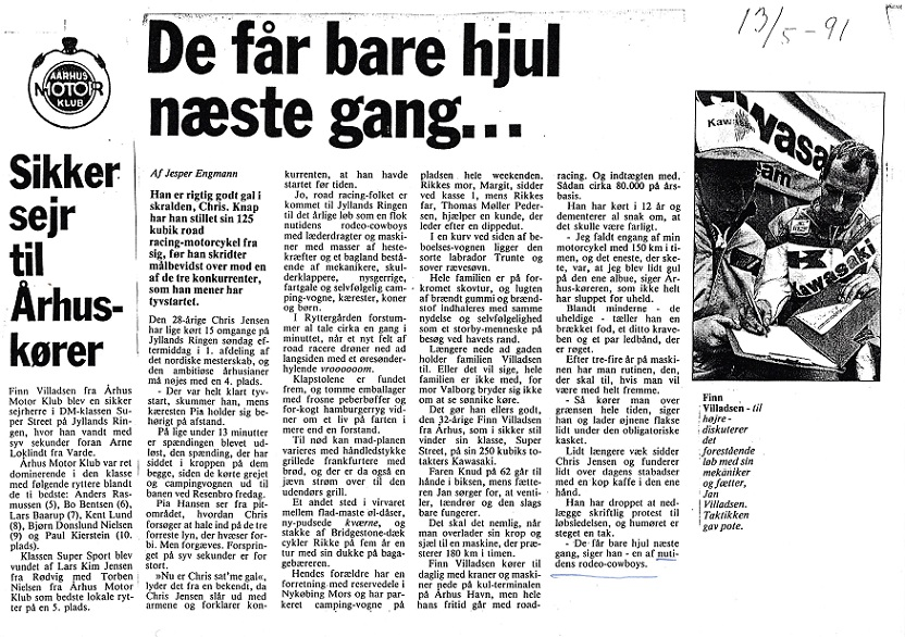 1991. Omtale af majløbet på JR