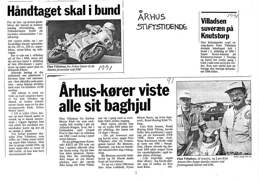 1991. Diverse presseklip.