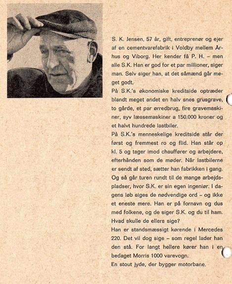 Miniportræt af entreprenør S.K. Jensen.
