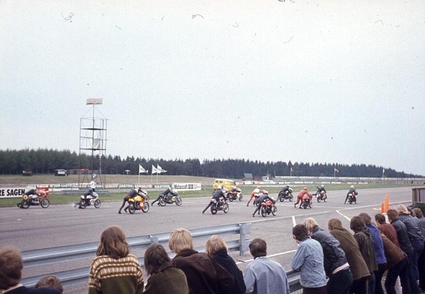 Startbillede fra det første DM på Jyllands-Ringen maj 1972.