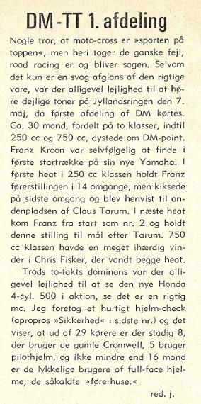 Jens Jørgens klubbladsomtale 1972-06