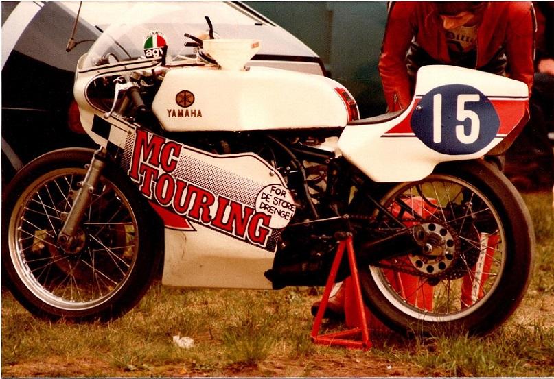 Finn Villadsen var til start på sin nye Yamaha i sin første rigtige DM-sæson.