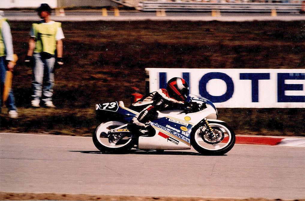 Ulrik Hasager i 125cc racer