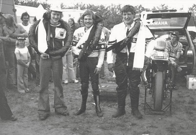Danmarks tre nordiske mestre Leif A. Nielsen, Kaj Jensen og Erik Bjørn Poulsen.