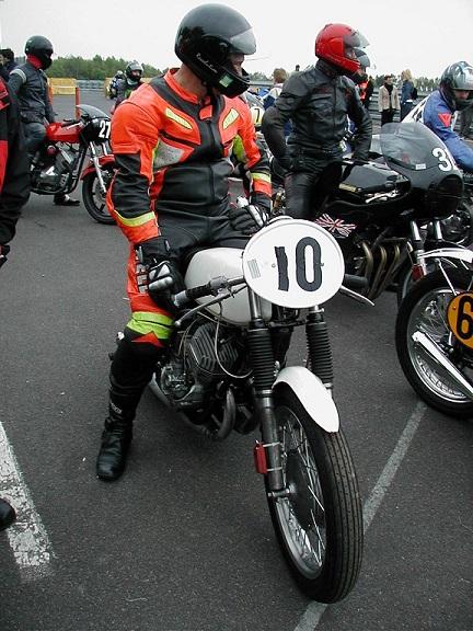 Keld Kierkegaard Nielsen med en Kawasaki.