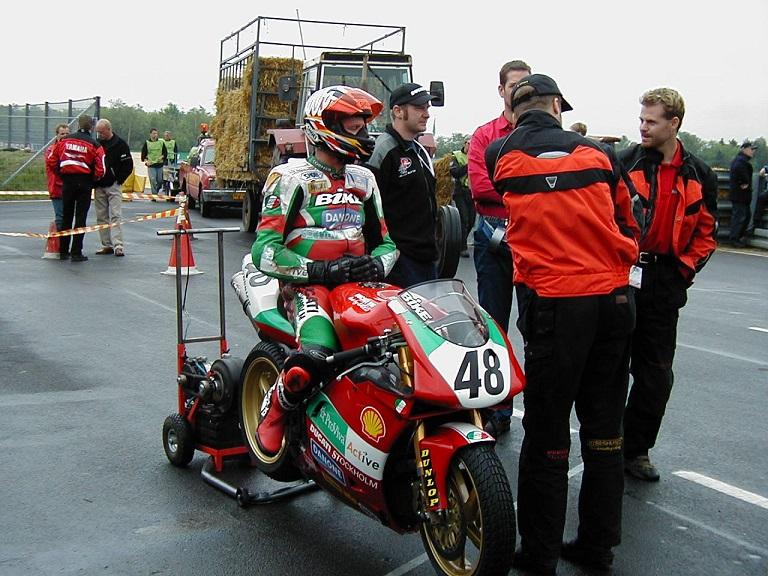 Peter Sköld, Ducati med medbragt rulle.
