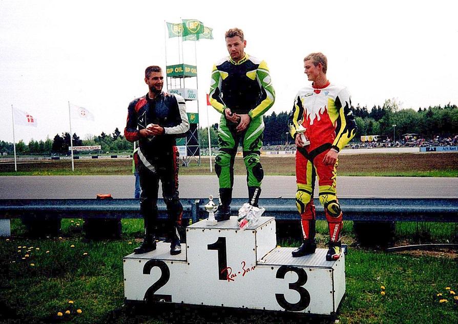 Uffe vandt søndagens løb foran Henrik Kelstrup og Morten Gade Jensen.