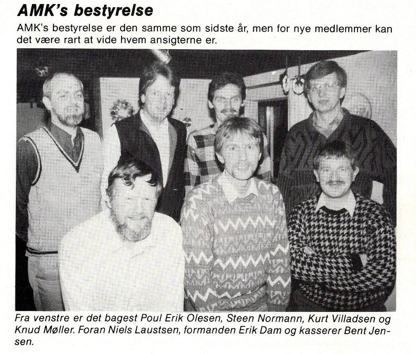 Klubblad 1988-03. Erik Dam  sammen med sin bestyrelse.