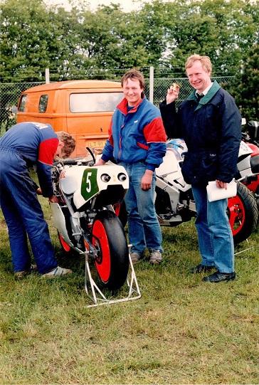 """NM Jyllands-Ringen 1989. Her sammen med Claus Skårup """"Skorp""""."""