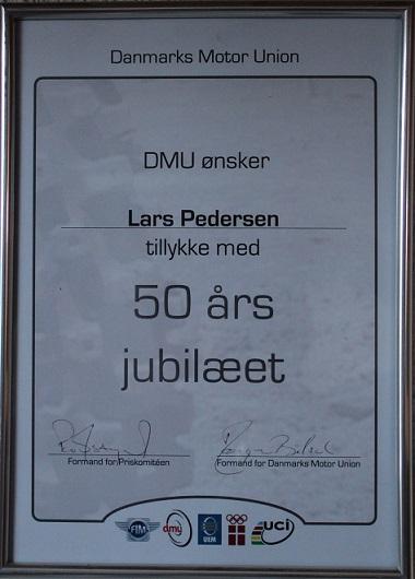 DMU´s 50 års diplom.