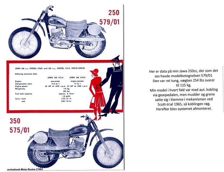 Data på min Jawa, som er den eneste serieproducerede crosser fra Jawa. Fremstillet i årene 1963 til 65.