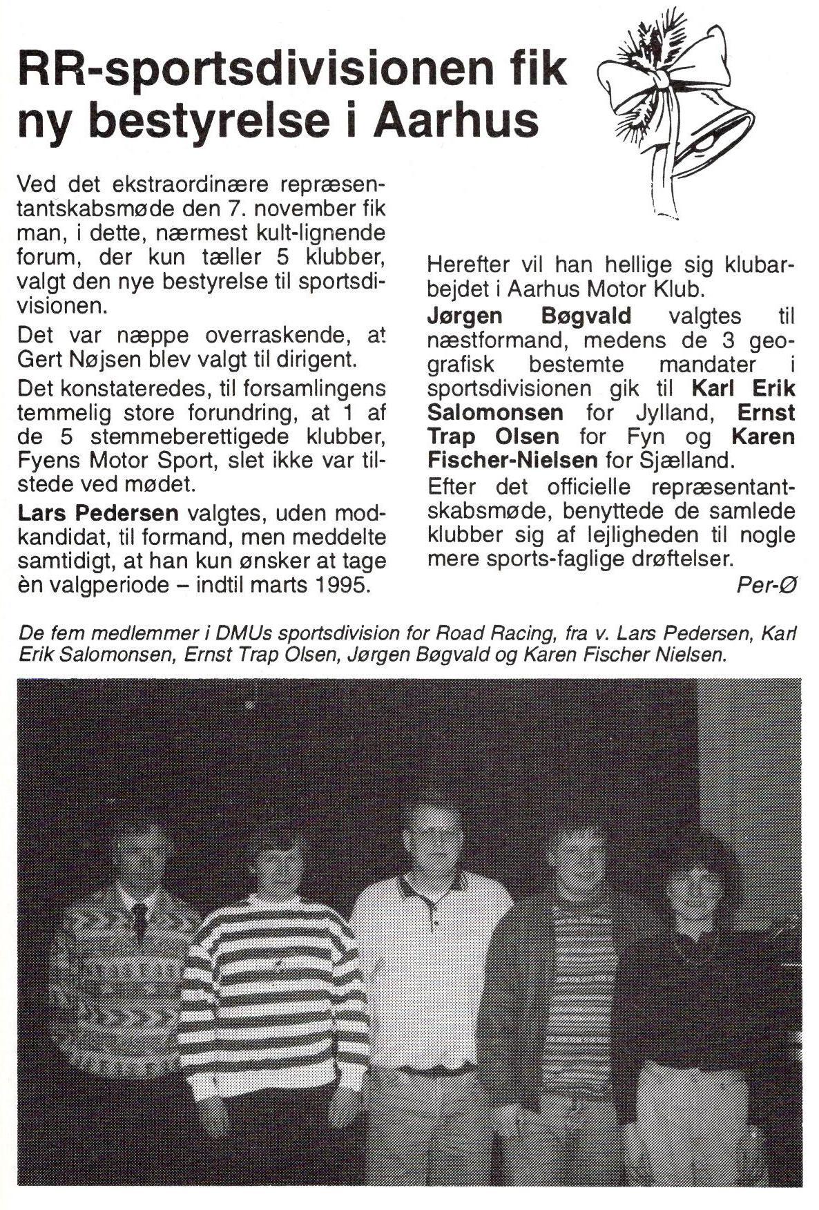 1993 - RR-sportsdivisionens bestyrelse i den nye struktur.