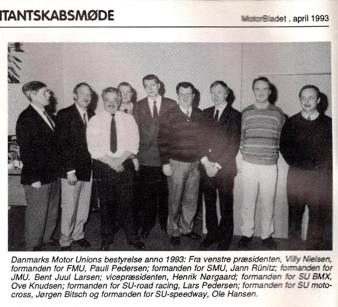 DMU´bestyrelse fra marts 1993.