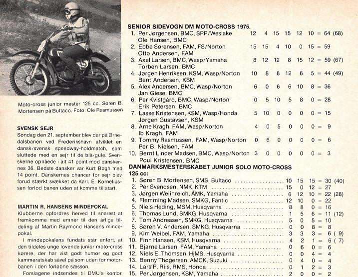 Billede af Søren og slutstilling DM-junior moto-cross 1975. MB 1975-11.