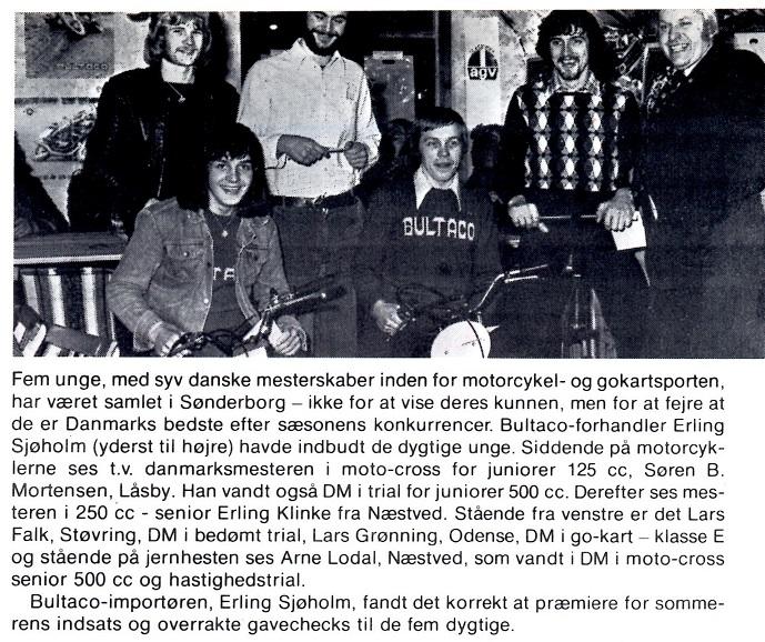 Erling Sjøholm samlede sine danmarksmestre 1975, og dette indslag blev bragt i MB 1976-02.