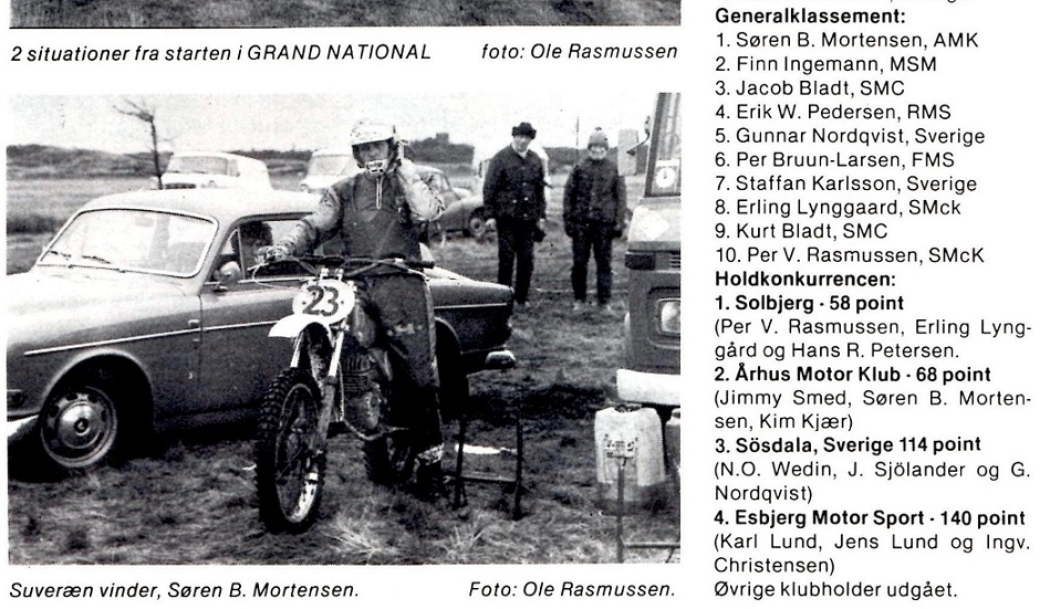 Søren vandt i 1977 Grand National, men ellers blev det fremover oftest sådan, at han ikke deltog, men holdt en vinterpause for at lade op til en ny sæson. MB 1978-01