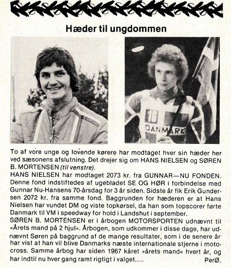 """Søren kåret som """"Årets Mand på 2-hjul"""". MB 1978-12"""