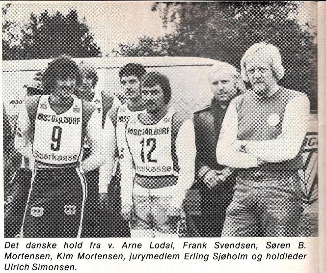 Det danske hold til MCdN 1978.