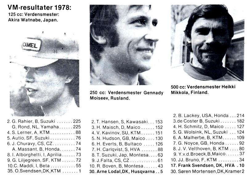 De første 2 point i VM 1978.