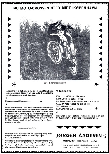Søren i et reklamefremstød for Jørgen Aagesen. MB 1979-03.