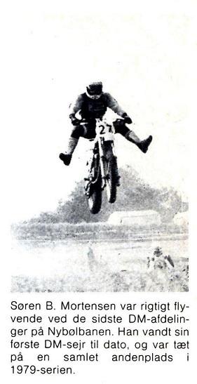 Søren vandt sin første DM sejr i 500cc. MB 1979-11