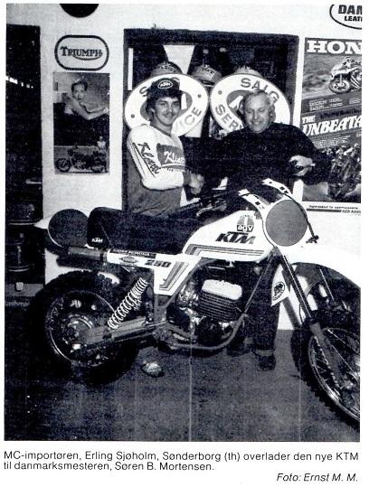Interview img3. MB 80-12. Søren var i 1980 bl.a. sponseret af Jimmy Smeds højtryksrenserfirma Klinett.