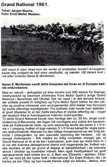 Søren havde ikke kørt Grand National siden sin sejr i 1977, men vendte i 1981 tilbage og vandt igen. MB 81-12 img1