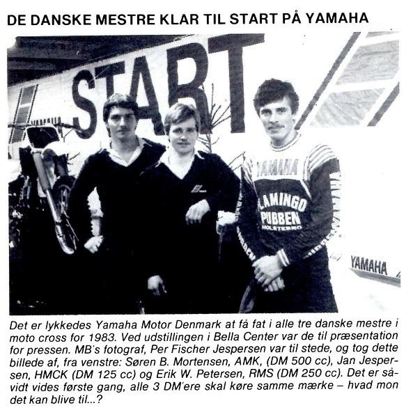 Søren skiftede fra KTM til Yamaha for 1983 sæsonen. Yamaha satsede stort det år, hvor alle de regerende mestre kom til at køre på mærket. MB 1983-03