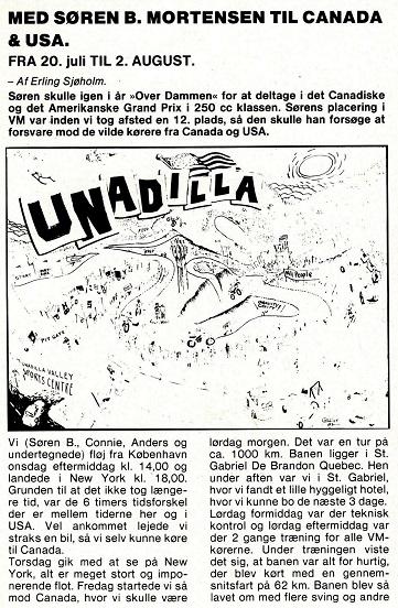 Søren kørte VM afdelingerne i Canada og USA, hvorfra Erling Sjøholm bragte denne beretning. MB 83-09 img1