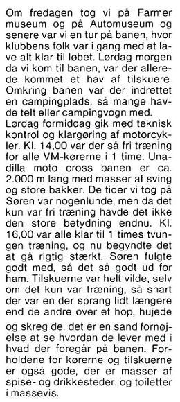 Søren kørte VM afdelingerne i Canada og USA, hvorfra Erling Sjøholm bragte denne beretning. MB 83-09 img4