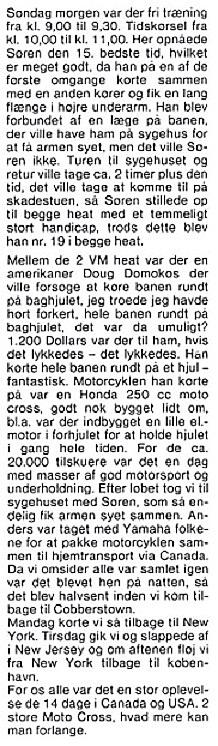 Søren kørte VM afdelingerne i Canada og USA, hvorfra Erling Sjøholm bragte denne beretning. MB 83-09 img5