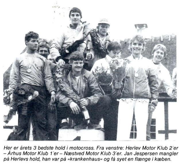 I 1985 genvandt AMK titlen i DM hold. Søren her sammen med Kim Kjær og Povl Bovbjerg.