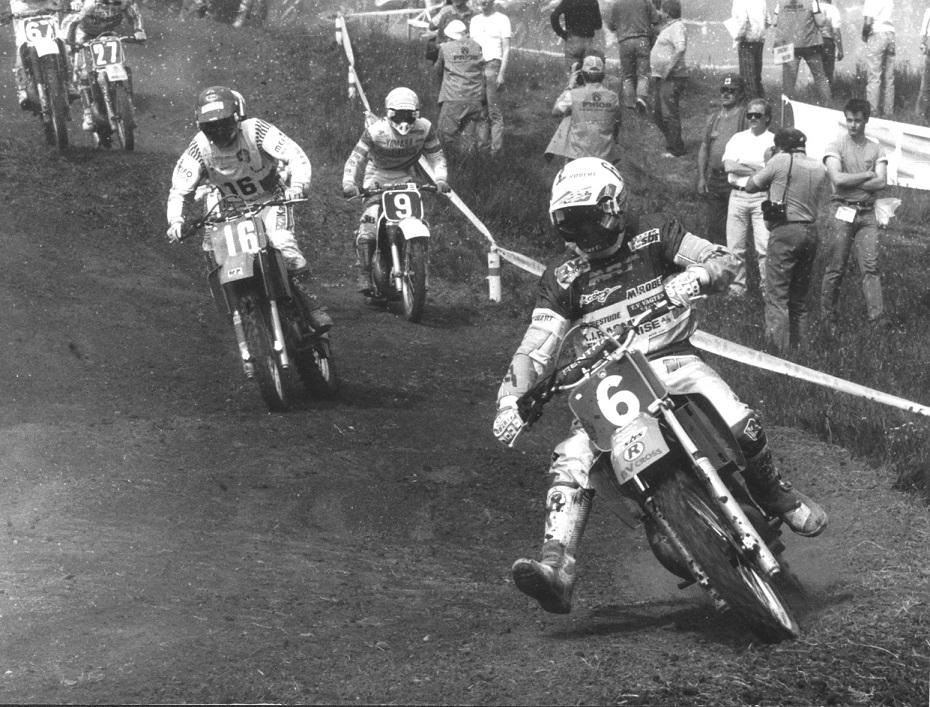VM-løb i Holice, Tjekkoslovakiet . Søren foran Gert van Doorn 16 og John van der Berk 9.