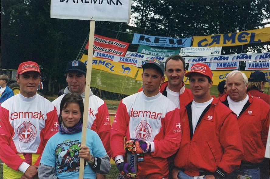 1994 MCdN img1 Roggenburg Schweiz, DK nr. 10. Fra venstre Mikkel Caprani, Claus M. Nielsen, Brian Kjær, Jørgen Bitch, Søren og Erling Sjøholm.