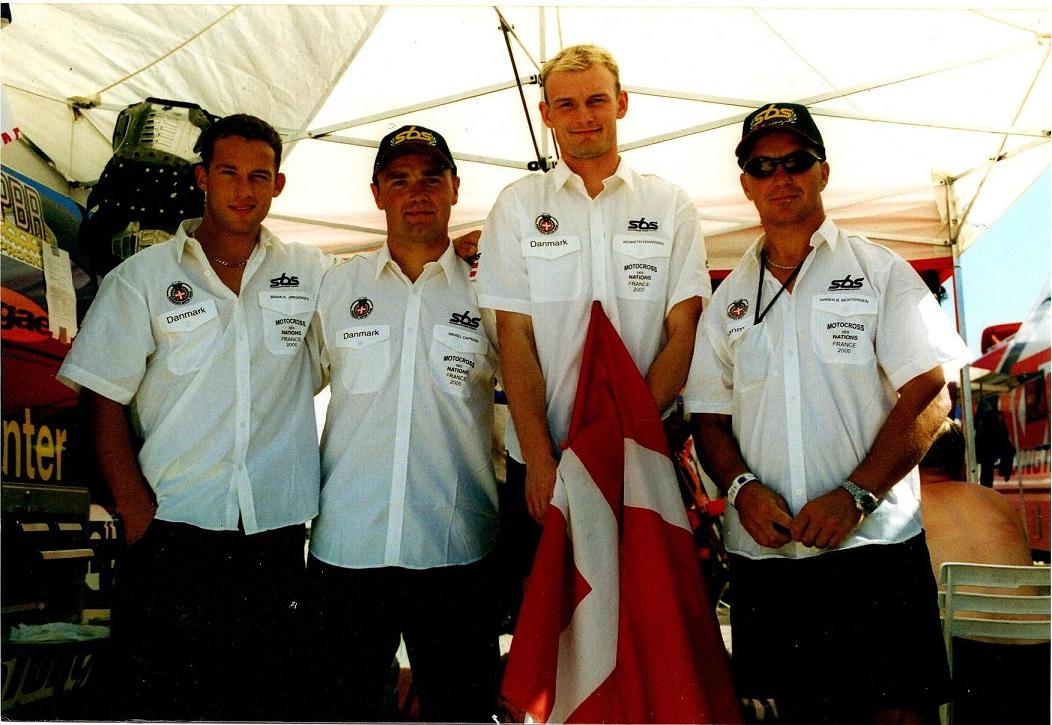 MCdN 2000. Brian Kjær, Mikkel Caprani, Kenneth Frandsen og Søren.