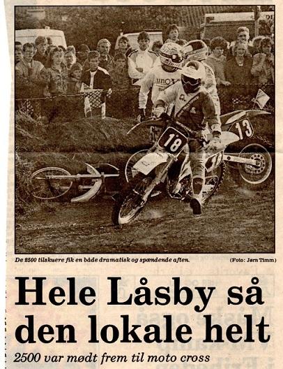 Avislip  Låsby-cross 89, hvor Søren vandt foran ca. 2500 tilskuere. Img1