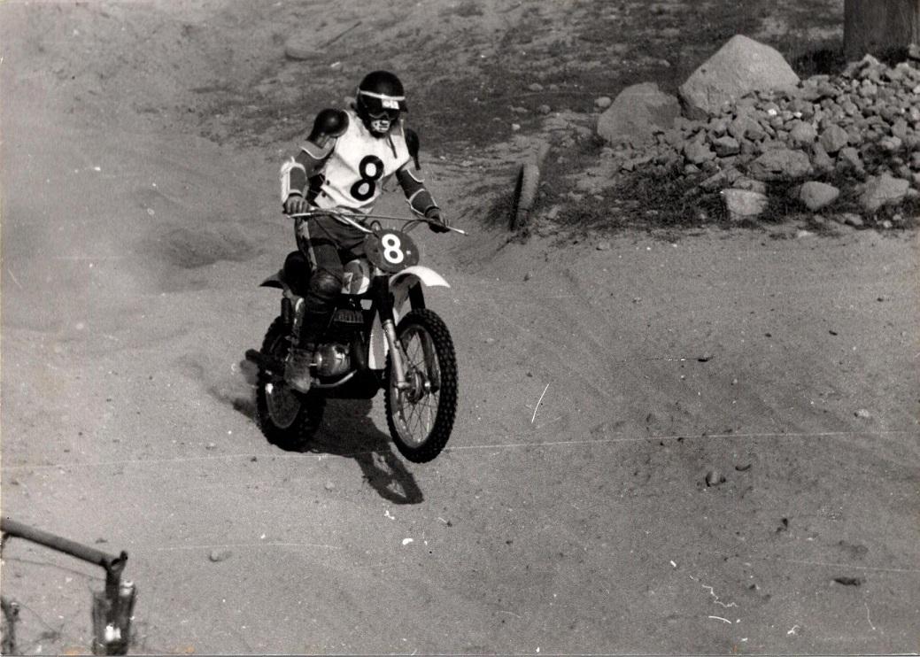 Dan på Bultaco 1975