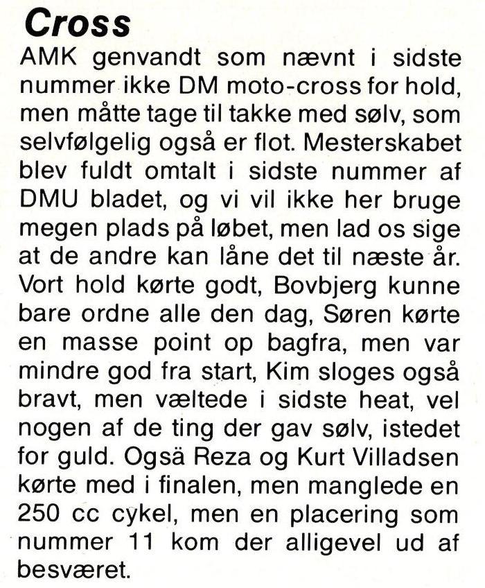 1986 Klub DM Hold Cross