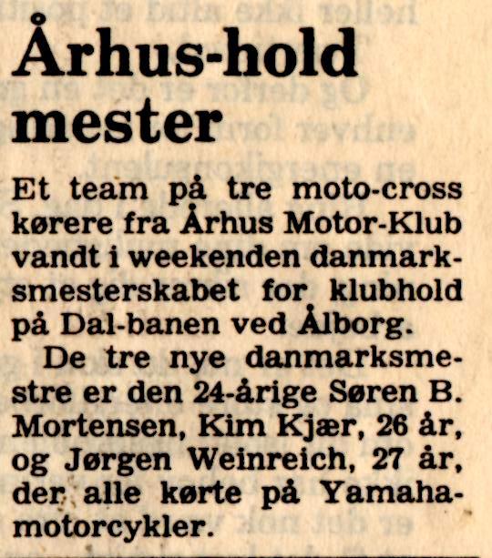Avisklip DM Hold+Søren B VM nr. 3 84